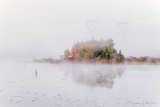 Misty Rideau Canal In Fog Autumnscape P1560054