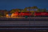 Rail Yard Scene At Dawn P1560424-30