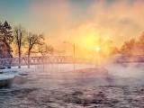 Footbridge In Sunrise Mist DSCN47214-6