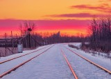 Railway Tracks At Sunrise DSCN48235