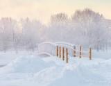 Footbridge On A Frosty Misty Morning DSCN48600