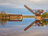 Scherzer Rolling Lift Bridge Reflected DSCN55624
