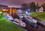 The Le Boat Fleet Queue At Night P1590526-32