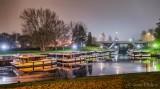 The Le Boat Fleet Queue At Night P1590505-11