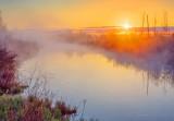 Misty Irish Creek Sunrise DSCN57186