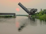 Red Sun Setting Beyond The Bascule Bridge P1040185-9