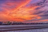 Rail Yard Sunrise 90D-03184-8
