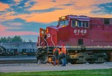 CP 113 Crew Change At Sunrise 90D03678