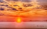 Sun Rising Beyond Ground Fog 90D04212-6