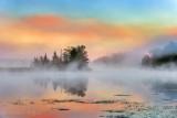 Misty Rideau Canal In Foggy Sunrise 90D05806