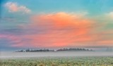 Clouds At Sunrise Over Ground Fog 90D05367