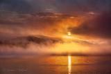 Sun Rising Over Misty Lake Wawa 02386