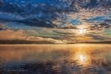 Clouded Sun Over Lake Wawa 02474
