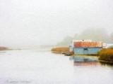 Foggy Swale Boathouses DSCN73710 'Art'