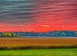 Clouded Sunrise Beyond Distant Rideau Canal DSCN73865-7