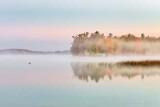 Misty Autumn Otter Lake At Sunrise 90D06995