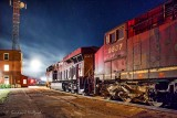 CP 113 Leading Locomotives With Fog Moving In 90D06865-8