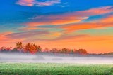 Sunrise Clouds Over Autumn Ground Fog 90D07936