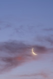 Waning Crescent Moon and Saturn
