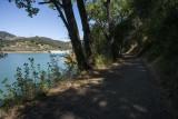 Trail along Stevens Creek Reservoir