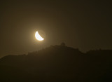 Moon rise by Lick Observatory