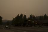 Smoky Sunset at Tahoe City