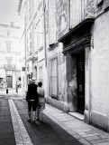 in a street of Arles (south of France)