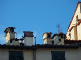 Chimneys on houses along the Anfiteatro