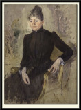 Woman in Black seated in an Armchair, 1882