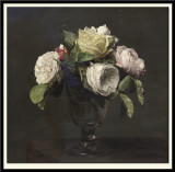 Roses dans un Verre a Pied (Roses in a Stemmed Vase), 1873