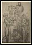 Compositional sketch for Orpheus and Eurydice, 1875