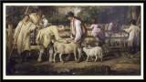 Sheep Salving, 1828 (detail because of reflection)