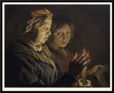 An Old Woman and a Boy by Candlelight, around 1640-50