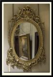 Pair of gilt oval pier glasses, 1750-1760