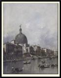 The Grand Canal, Venice. Church of St Simeone Piccolo