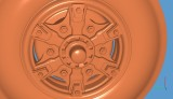6 Spoke Steer Wheel