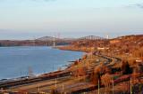la vue des ponts depuis la falaise de Sillery