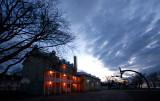 L'école de St-Laurent à l'aube