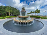 Pineapple Fountain in the Water Park