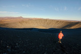 Hverfjall volcano crater