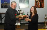 Les Sutton Trophy...Marcel T. Accepting on his behalf Reg