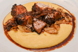 Five-Spice Pork Belly with Fennel and Cheesy Polenta