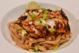 Miso Cod with Spiced Rice Noodles