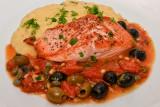 Salmon with a Mediterranean Sauce