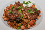 Lamb Chops with Giant Couscous and Chickpeas