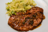 Sticky Thyme and Mustard Bacon Chops
