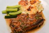 Spiced Pork Chops with Potato Gratin