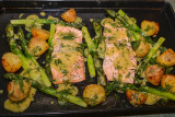 Loch Trout, Asparagus and Potato Tray Bake