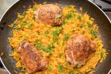Crispy Chicken with Saffron Rice