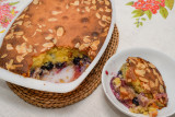 Almond and Blueberry Sponge Pudding